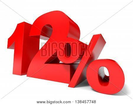 Red Twelve Percent Off. Discount 12%.