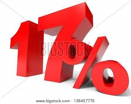 Red Seventeen Percent Off. Discount 17%.
