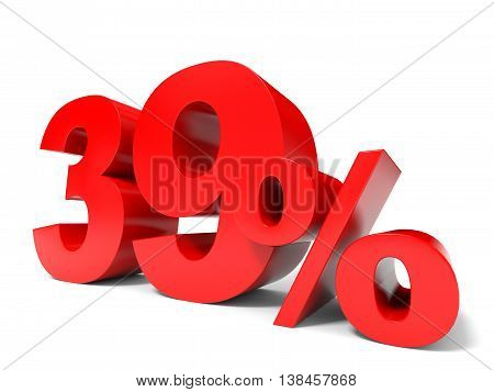Red Thirty Nine Percent Off. Discount 39%.