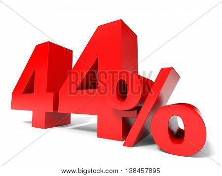 Red Forty Four Percent Off. Discount 44%.
