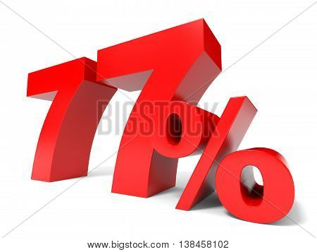 Red Seventy Seven Percent Off. Discount 77%.