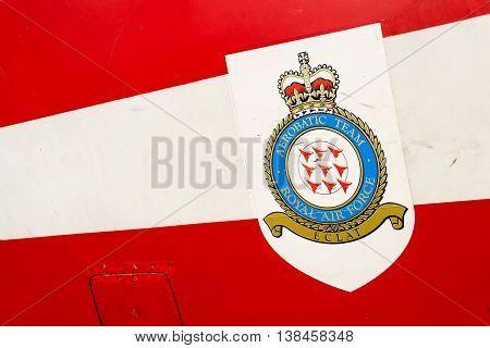 Royal Air Force Aerobatic Team Logo On Bae Hawk T1