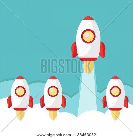 Space leader rocket launch vector eps 10
