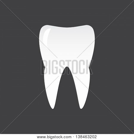tooth on a black background template design element eps10