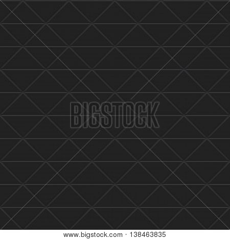 Black triangles of chocolate steel. Seamless vector texture. Technology seamless pattern.Vector geometric dark background.