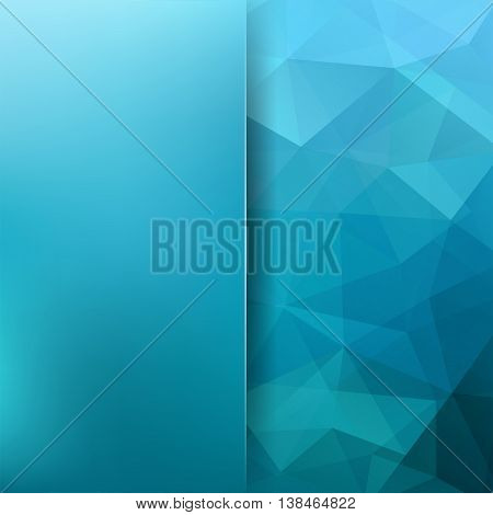 Abstract Mosaic Blue Background. Blur Background. Triangle Geometric Background. Design Elements. Ve
