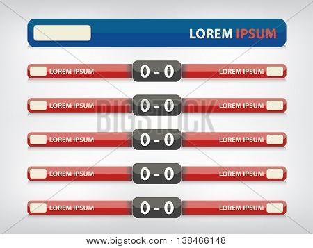 Football Menu Button For Score Information.