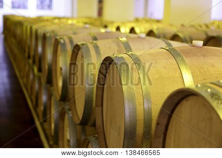 View Of Old Wooden Barrels