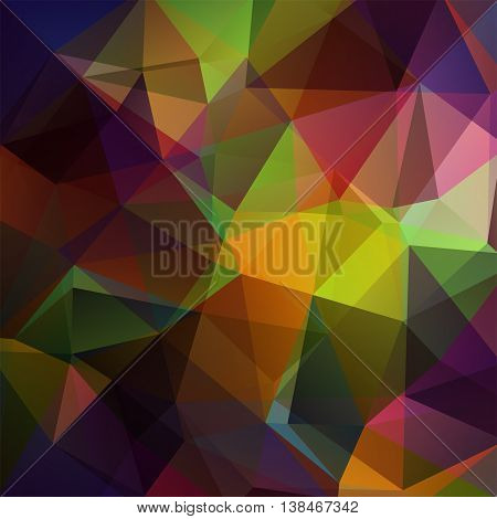 Geometric Pattern, Polygon Triangles Vector Background In Brown, Green Tones. Illustration Pattern.