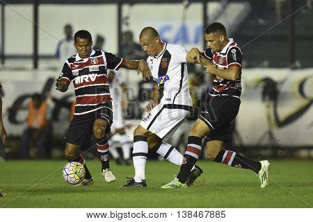 Rio de Janeiro Brasil - july 13 2016: Leandrao player in match between Vasco and Santa Cruz by the Brasil championship in the Sao Januario Stadium