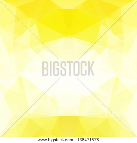 Background Made Of Triangles.  Square Composition With Geometric Shapes. Eps 10. Yellow, White Color