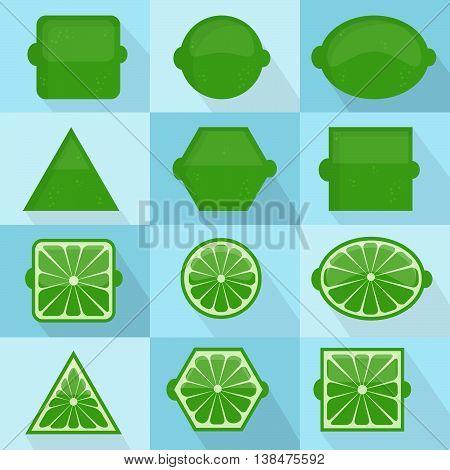 Lime Geometric Shapes