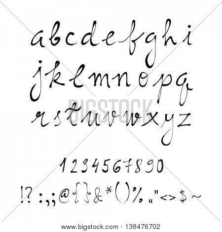 Vector handwritten letters, calligraphy