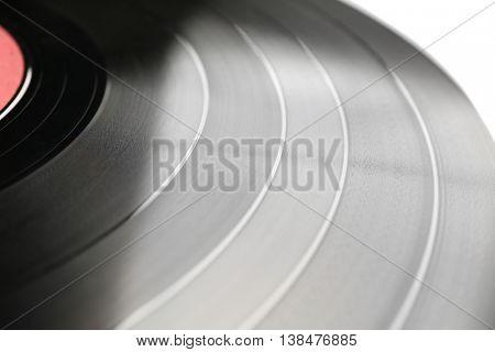 Vinyl record, closeup
