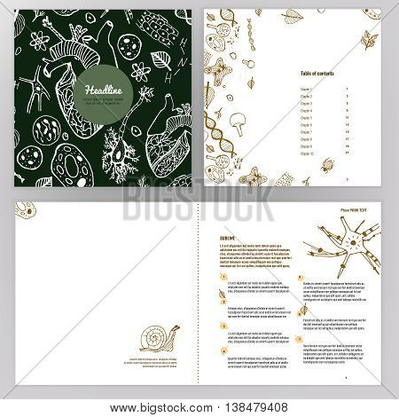 Vector business brochure template. Bright modern backgrounds for poster, print, flyer, book, booklet, brochure and leaflet design. Editable graphic image in natural colors