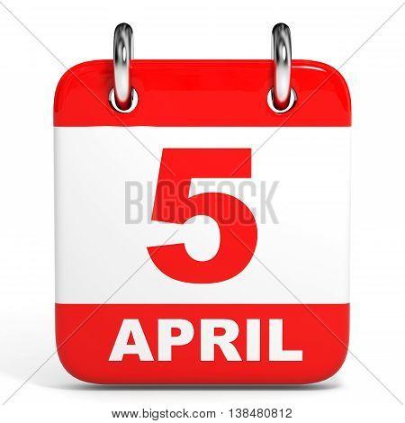 Calendar. 5 April.