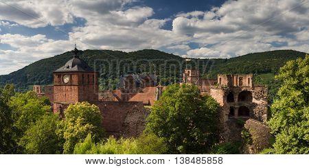 Ruins of Castle Heidelberg Baden Wuertemberg Germany