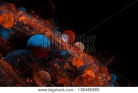 Background Consists Of Fractal Color Texture And Is Suitable For Use In Projects On Imagination, Cre