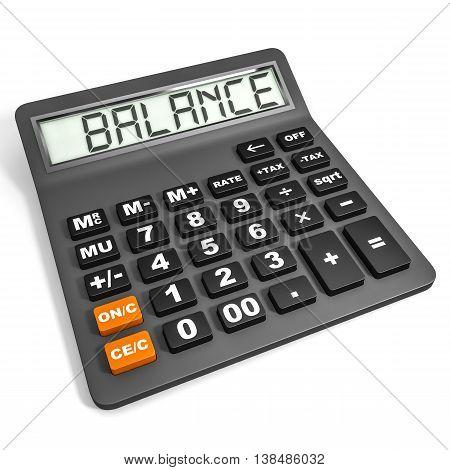 Calculator With Balance On Display.