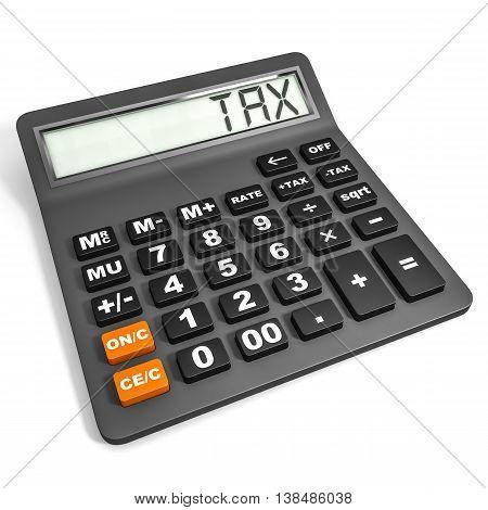 Calculator With Tax On Display.