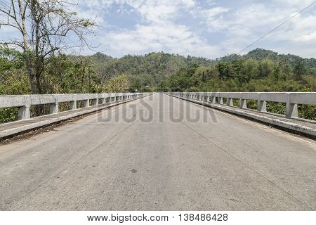 Old Cement bridge road in Kanchanaburi thailand