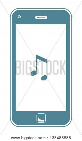 Smart Phone Playing Music. A Simple Vector Illustration Of A Smart Phone Playing Music