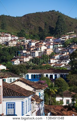 Brazilian Houses On A Hill