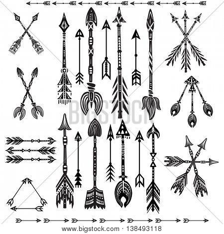 Set of ethnic tribal arrows