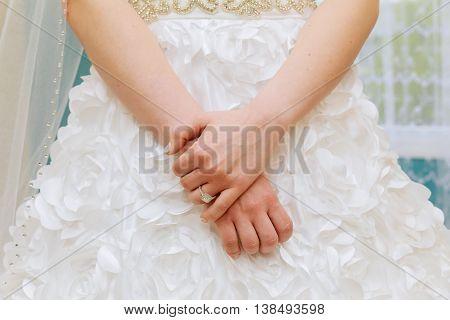 Engagement Ring On Bride's Finger