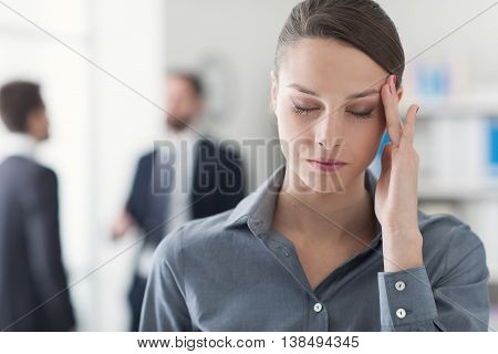 Office Worker Having An Headache