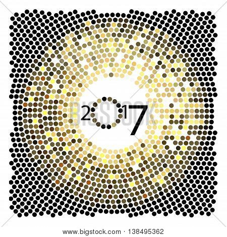 Vector design. The depicted circles of different colors mimicking the effect of the glitter on a white background. Can be used as cover for greeting cards or as invitations.