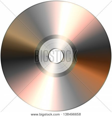CD isolated on White 3D illustration isolated object