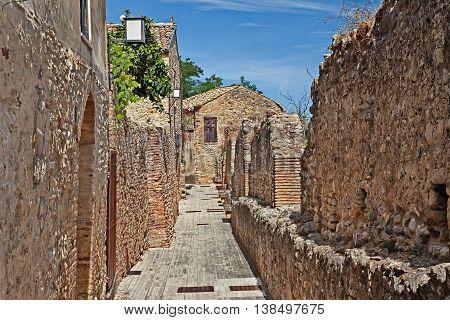 Rocca San Giovanni Chieti Abruzzo Italy: the medieval city walls in the ancient village