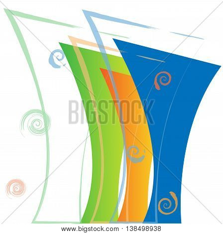 Set of abstract forms. Vector template for the web.