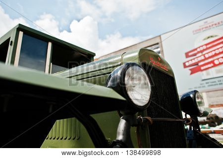 Podol, Ukraine - May 19, 2016: Soviet Military Truck Zis-5 V, Produced At Zavod Imeni Stalina (plant