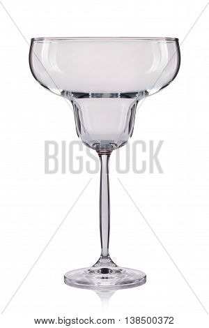 Empty wine glass. isolated on a white background.