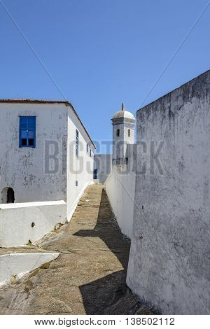Guardhouse of the historic fortress of Santa Cruz in the city of Niteroi who was responsible for overseeing the entry of Guanabara Bay in Rio de Janeiro