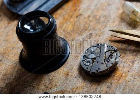 Watchmaker Or Horologists Work Bench