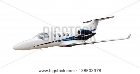 Business Jet airplane isolated on white background