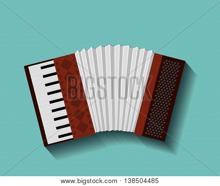 accordion instrument isolated icon design, vector illustration  graphic
