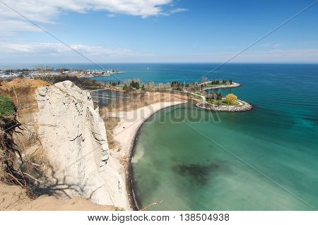 Bluffers Park and beach in Toronto Canada