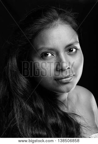 Close Up Portrait Of Hot Latina