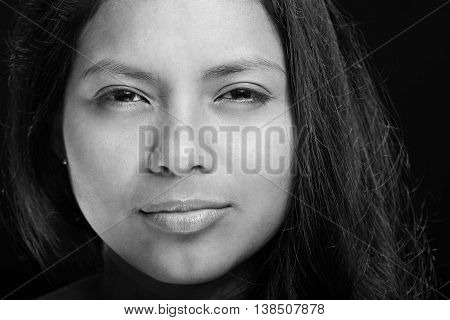 Woman Face With Narrow Eyes