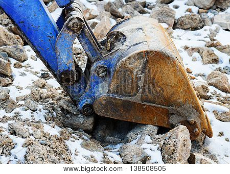 .small Bulldozer Excavator.