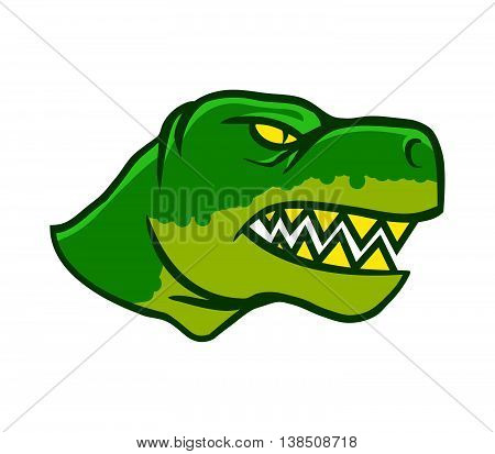 A vector illustration of Dinosaurs head from side view