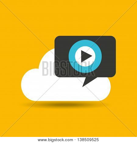 headphone on a cloud listening music, vector