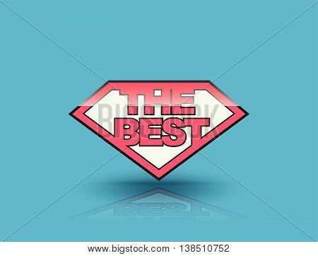 The best badge tag banner shield style. Vector illustration. Can use for element the best seller and the best product.