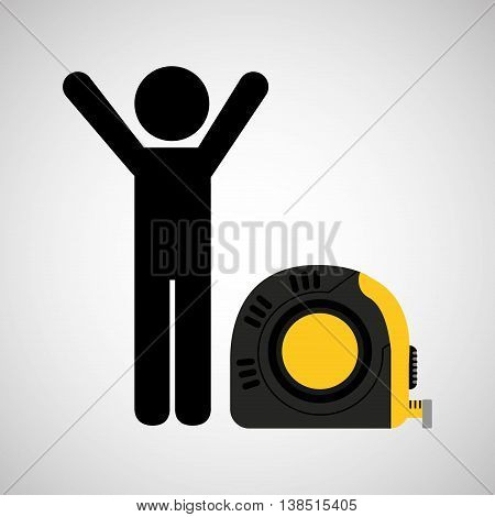 tape measure, healthy life style, vector illustration