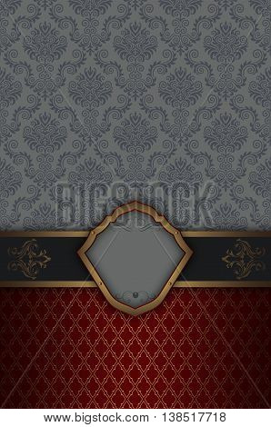 Vintage background with decorative borderframe and old-fashioned patterns.