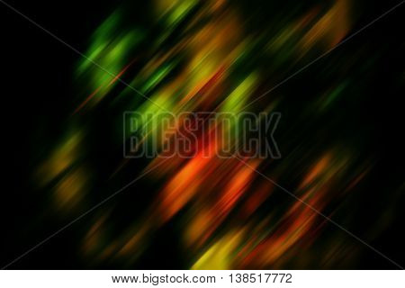 abstract bright color spots in a dark tonality